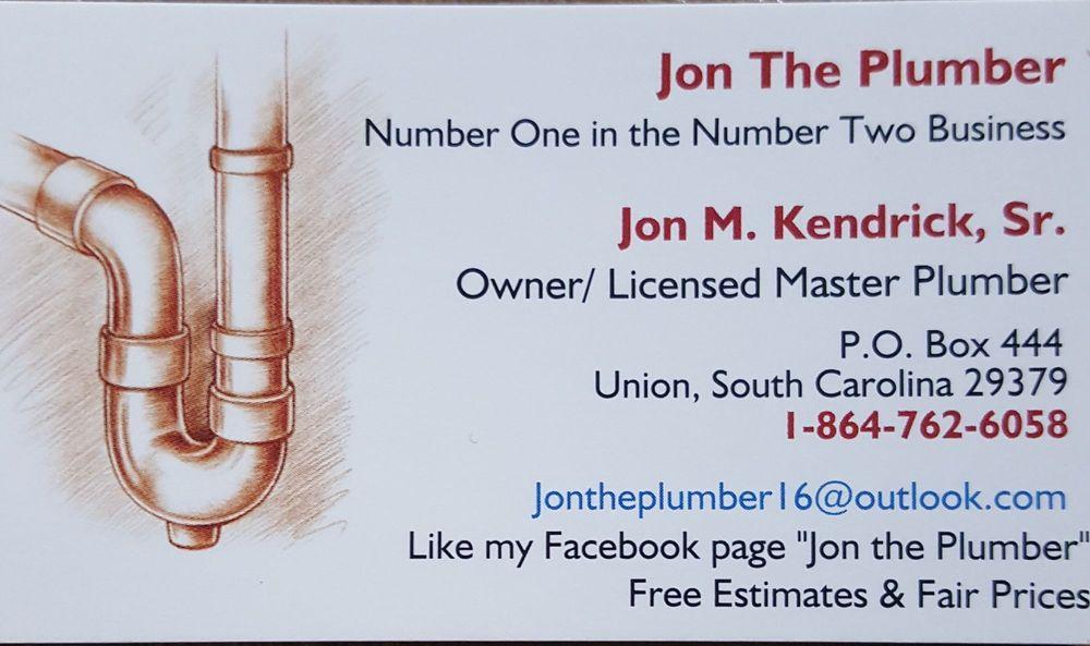 Jon the Plumber: Union, SC