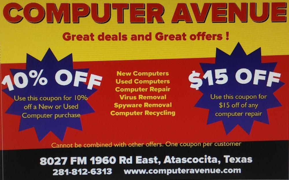 Computer Avenue: 8027 Fm 1960 Rd E, Atascocita, TX