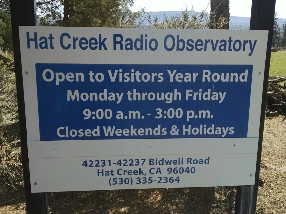 Hat Creek Radio Observatory: 42231 Bidwell Rd, Hat Creek, CA