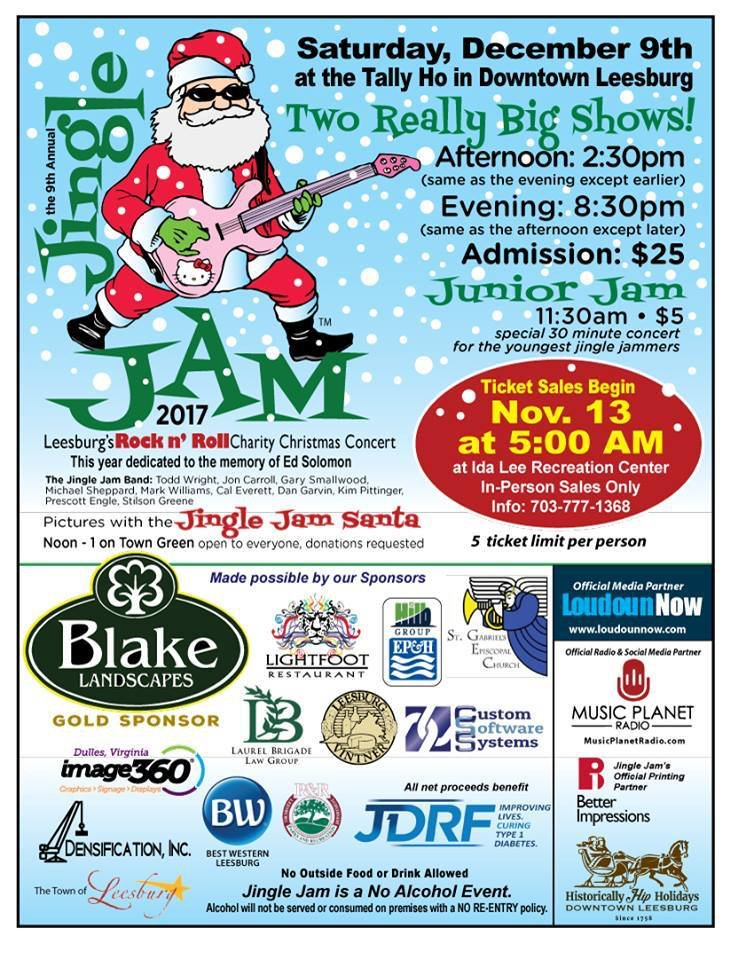 The 9th Annual Jingle Jam Saturday December 9th Tickets