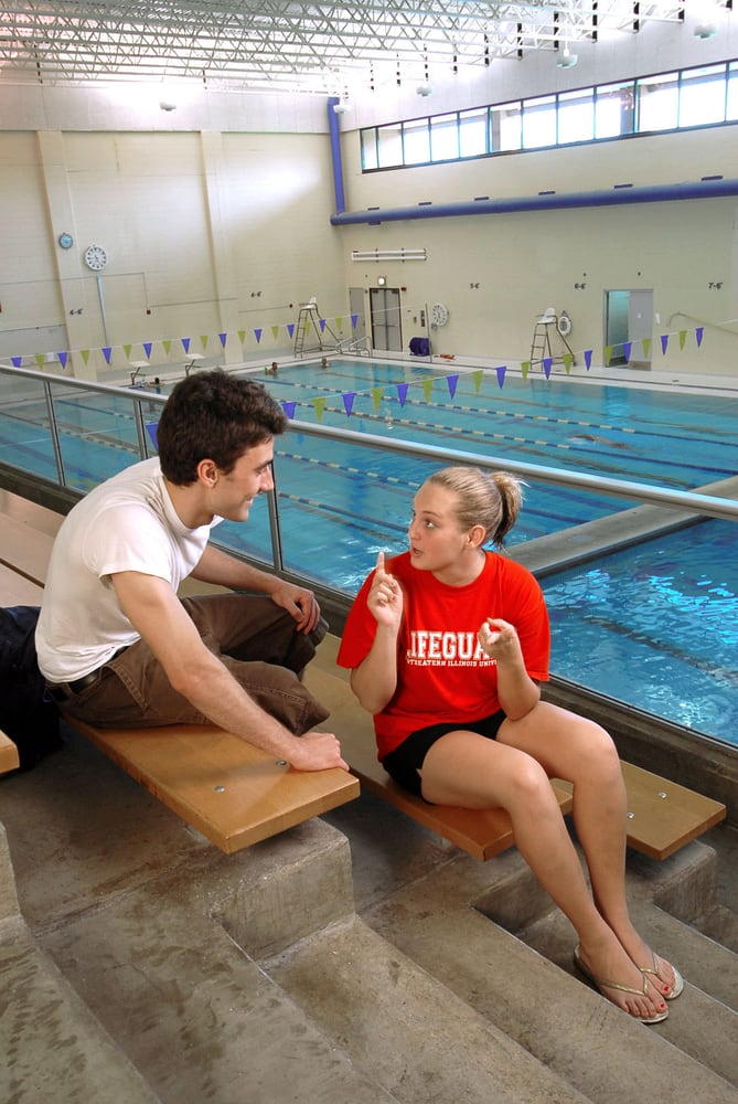 Neiu 39 s campus includes a state of the art fitness center - Northeastern university swimming pool ...