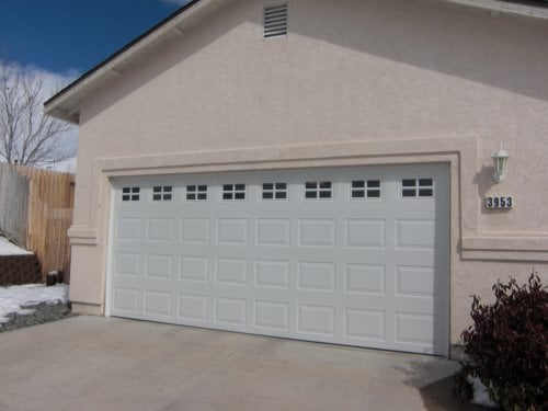 16 x 7 garage door16x7 Insulated Short Panel Garage Door with Stockton Glass  Yelp