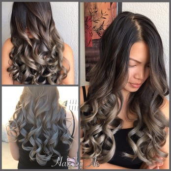 Grey Silver Balayage Ombre Hair By Ae Yelp