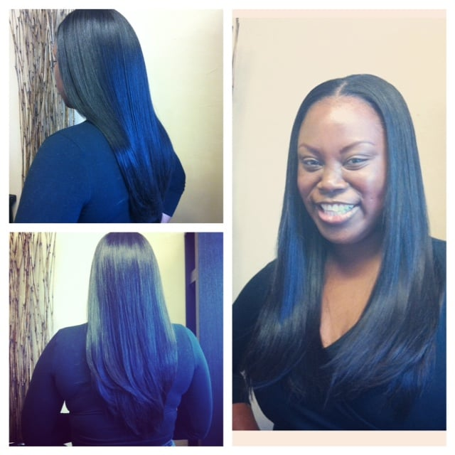 Full sew in weave with bangs and fringed layers minimal hair was full sew in weave with bangs and fringed layers minimal hair was left out to cover the tracks yelp pmusecretfo Gallery