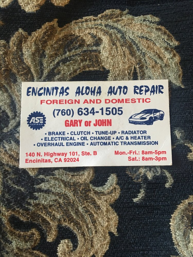 Encinitas 101 Mainstreet Association: Encinitas Aloha Auto Repair