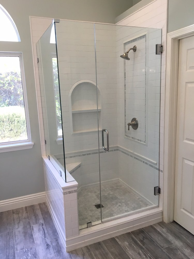 White Subway Tile Shower Carrara Marble Hexagon Shower