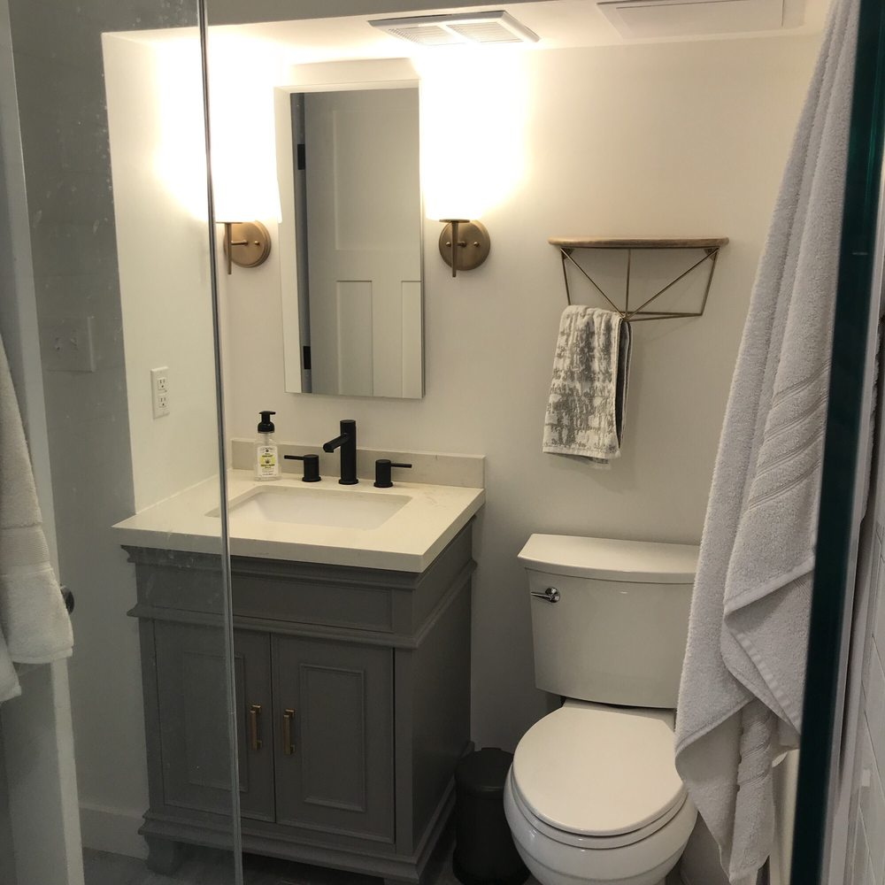 Superieur Basement Bathroom After. New Vanity, Recessed Medicine ...