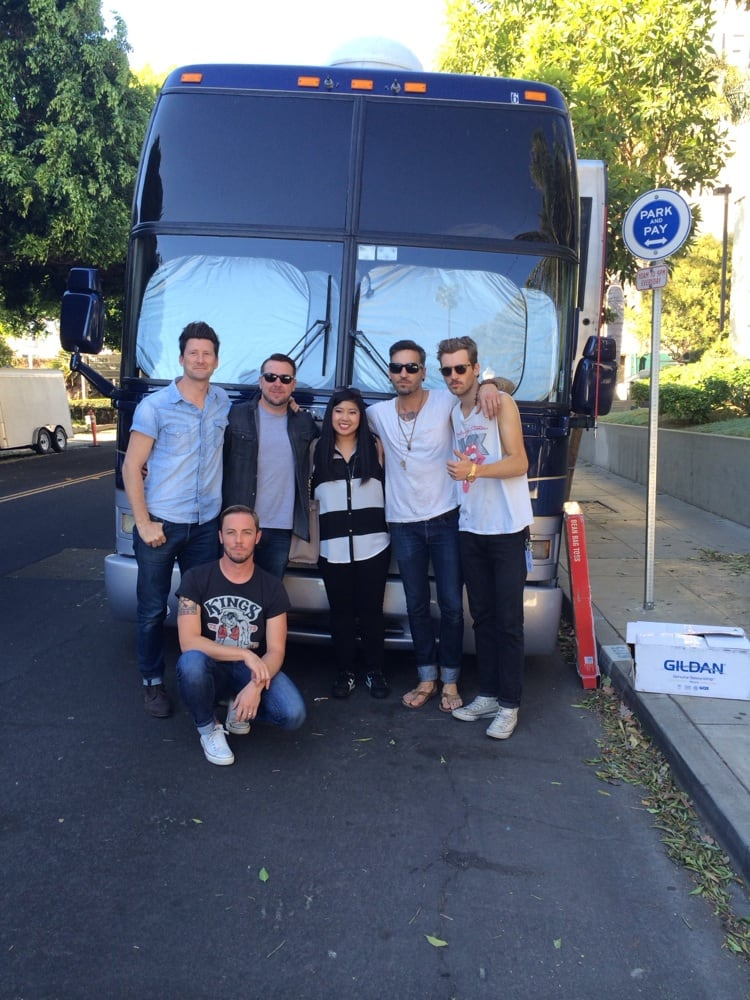 Me With My Favorite Band Anberlin By The Tour Bus