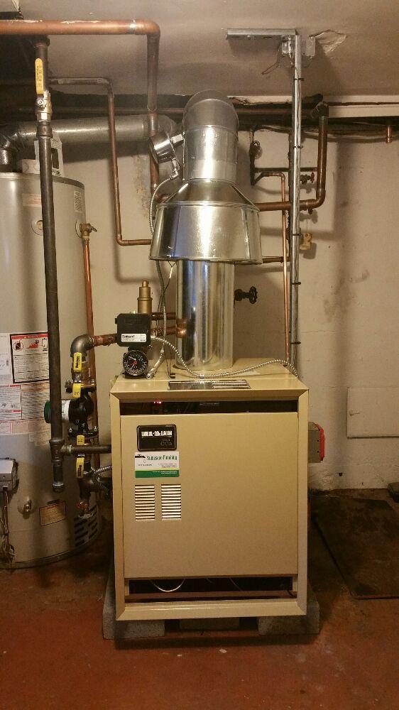 New 200,000btu hot water boiler install weil mclain 1 day ...