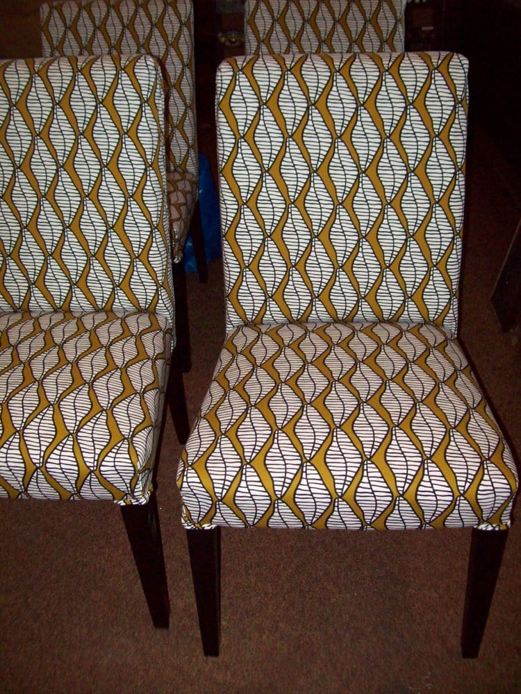 Reupholstered chairs w ikea fabric yelp for Ikea st paul mn