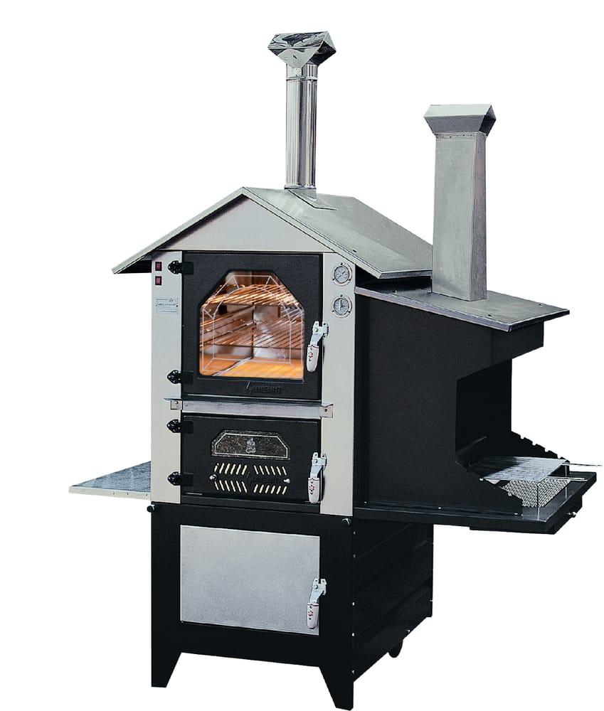 Forno a legna da esterno in acciaio inox completo di barbecue - Yelp