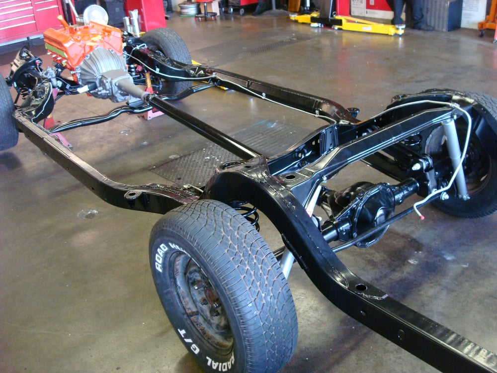 1965 impala frame powder coated yelp for A m motors