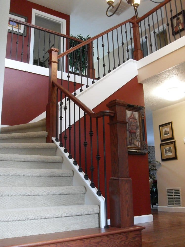 Photo Of Portland Stair Company   Portland, OR, United States. Stained Box  Newel