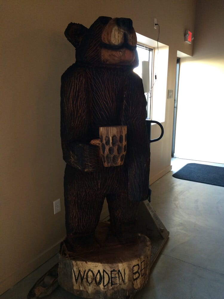 Wooden Bear Brewery Has A Wooden Beargo Figure Yelp