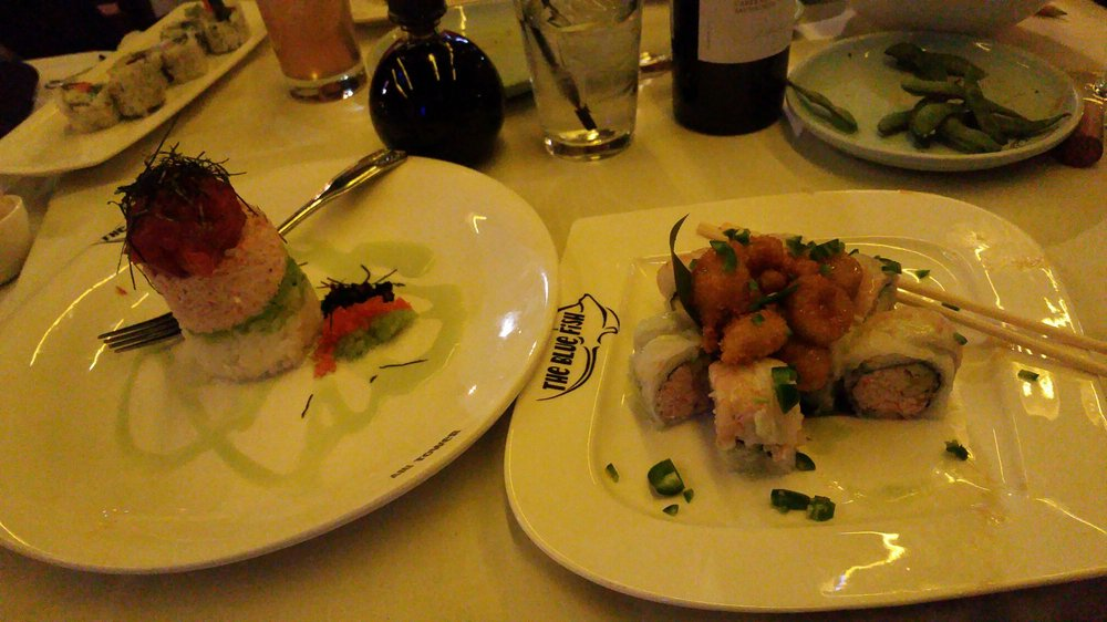 Dinner w my dallas neos ist class yelp for Blue fish dallas