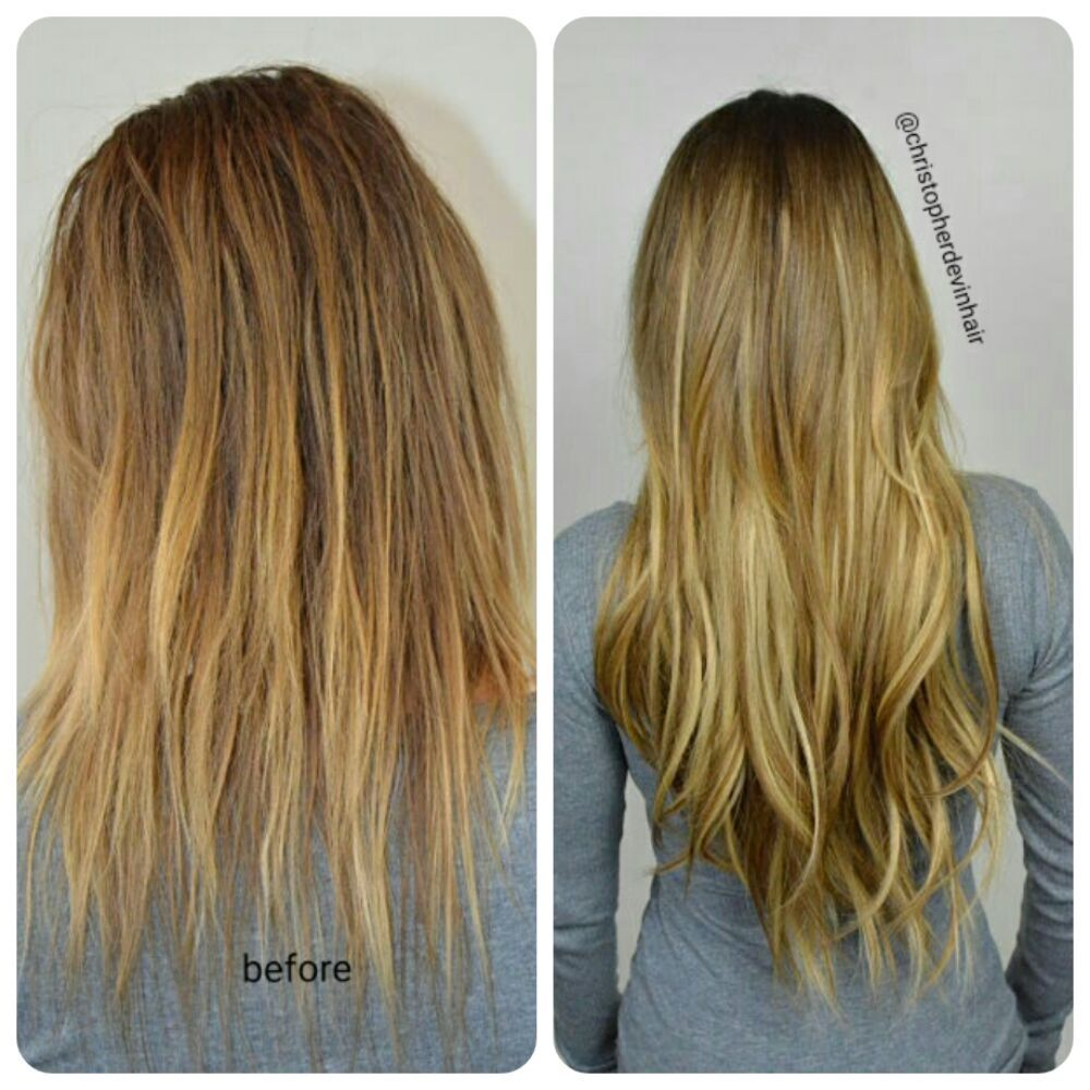 22 Inch Exclusive Level Hair Extensions With Balyage Hair Color By