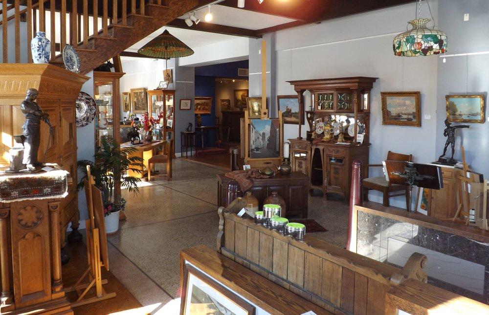 North Seas Gallery & Antiques: 237 Bridge St, Charlevoix, MI