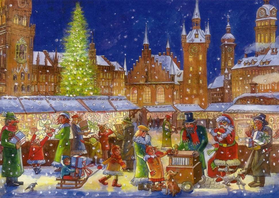 Weihnachtskarten Deutschland.Weihnachtskarte München Christkindlmarkt Yelp