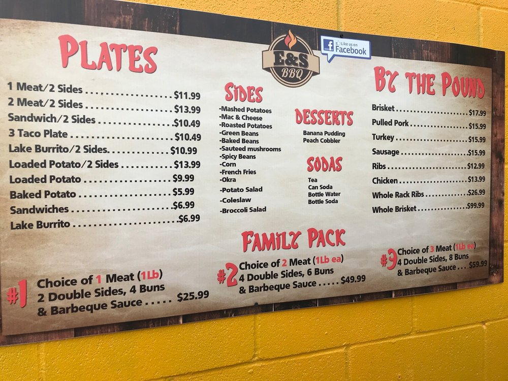 E&S BBQ: 29018 State Hwy 19 N, Athens, TX