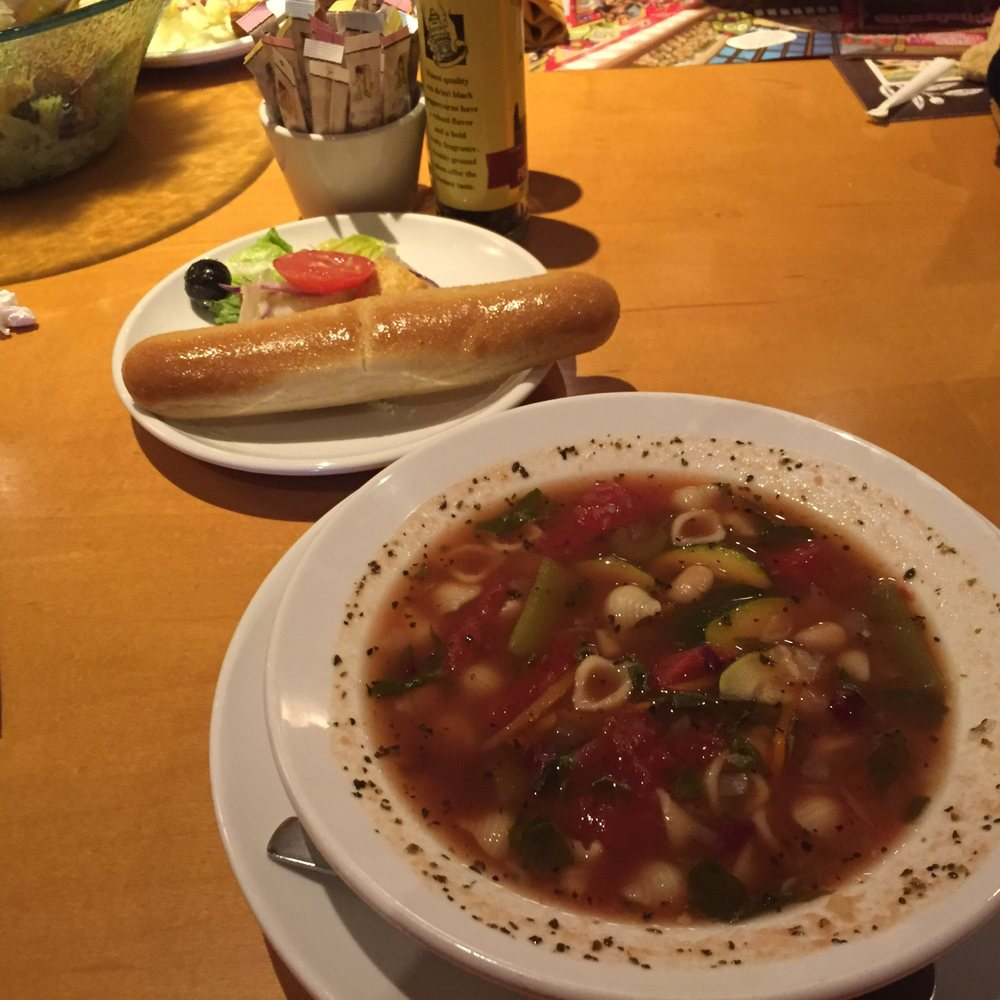 Minestrone Soup, Salad, Breadstick - Yelp