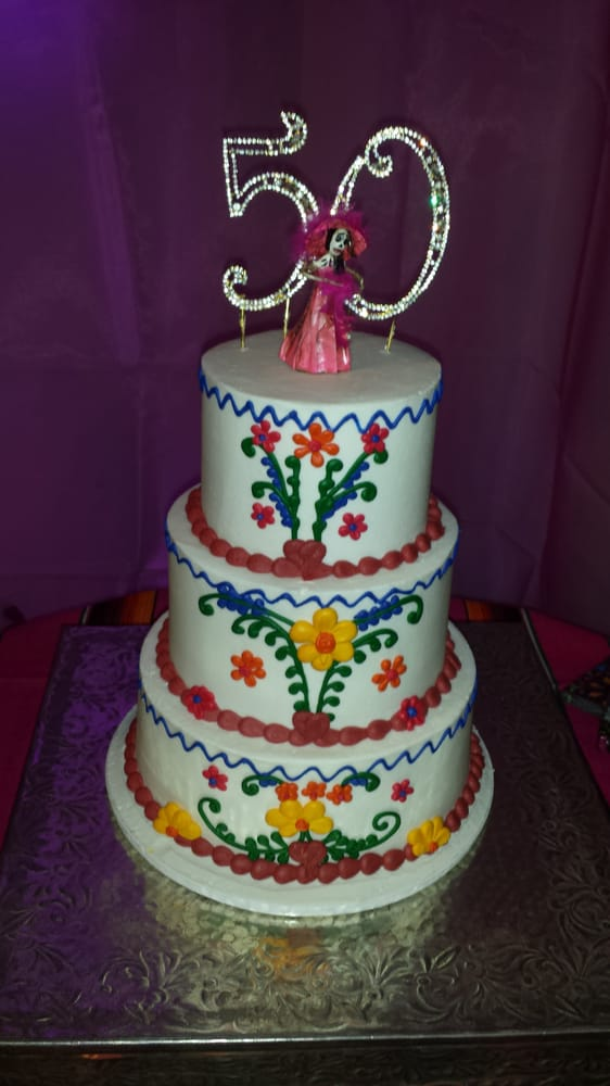 Mexican Embroidery Cake 50th Birthday At The Crystal Marqui Ths