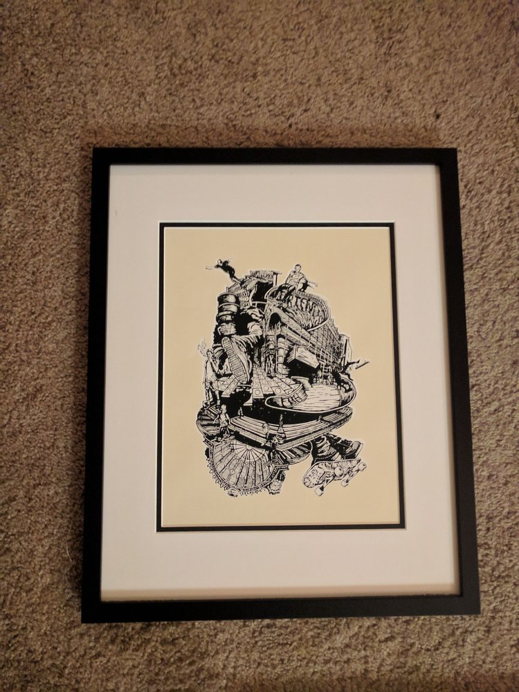 I bought in some Kyle Bryant/Limit It Editions prints to frame ...