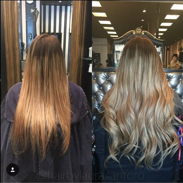 D lux hair extensions no color two different blends not sure photo of tease salon hair extensions costa mesa ca united states pmusecretfo Gallery