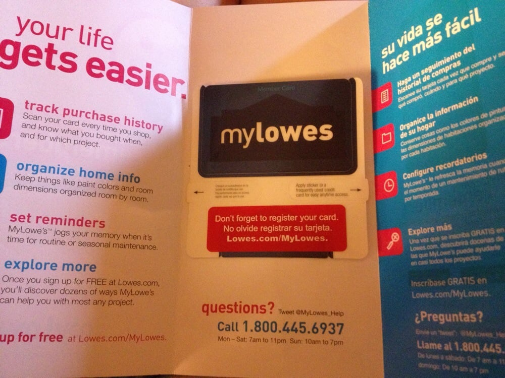 My Lowes Card >> Get The My Lowes Card It Keeps Track Of Everything You Buy Even