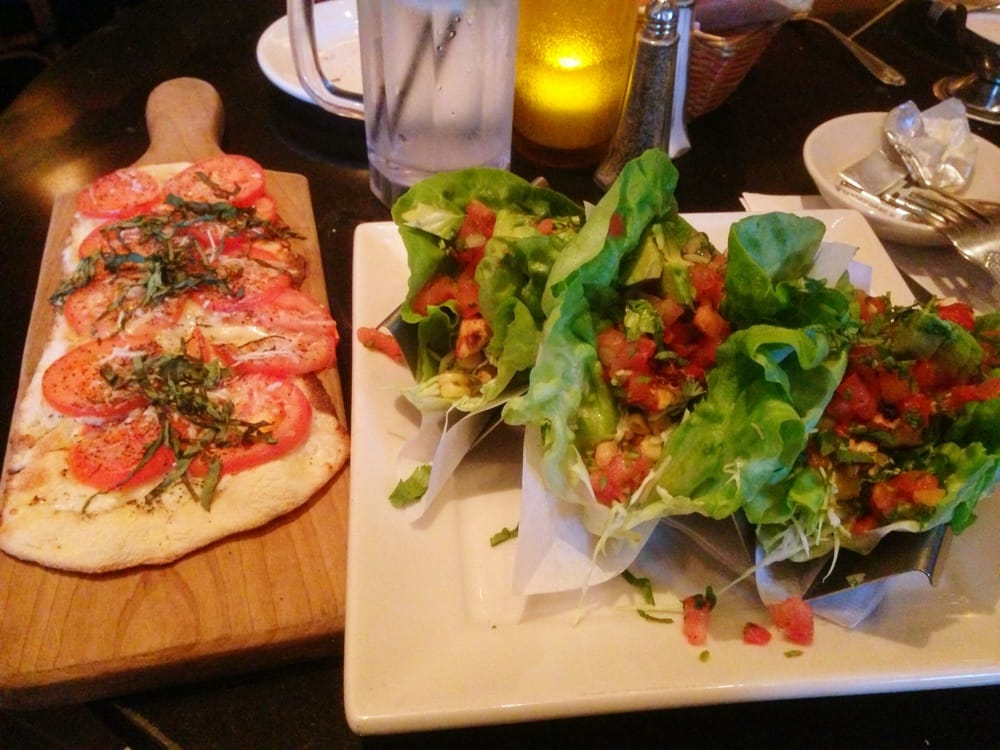 Chicken Lettuce Wrap Tacos Mexican Margherita Flat Bread Pizza Yelp