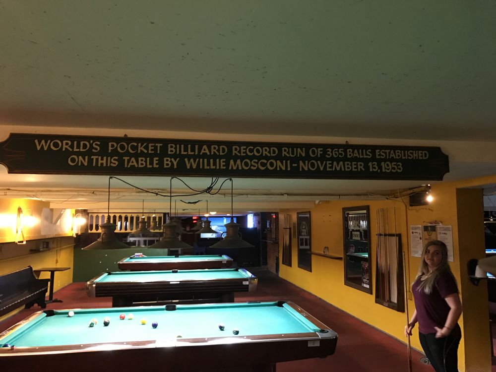 Willie Mosconis Record Breaking Table Yelp - Mosconi pool table