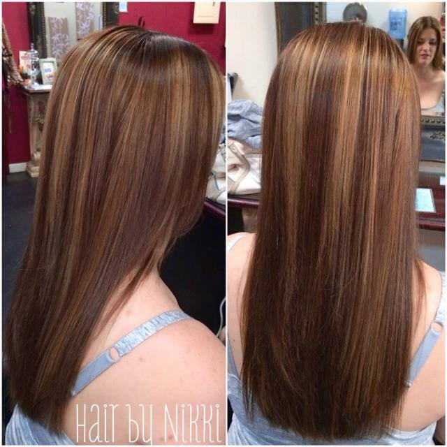 Balayage Highlights Hand Painted With Keartin Complex Smoothing