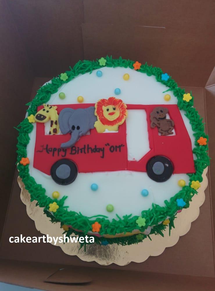 Fresh whipped cream Nursery Rhyme Bus theme smash cake - Yelp