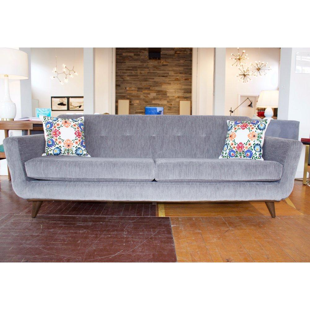 Hughes Sofa In Bentley Pewter (Mocha Stain)