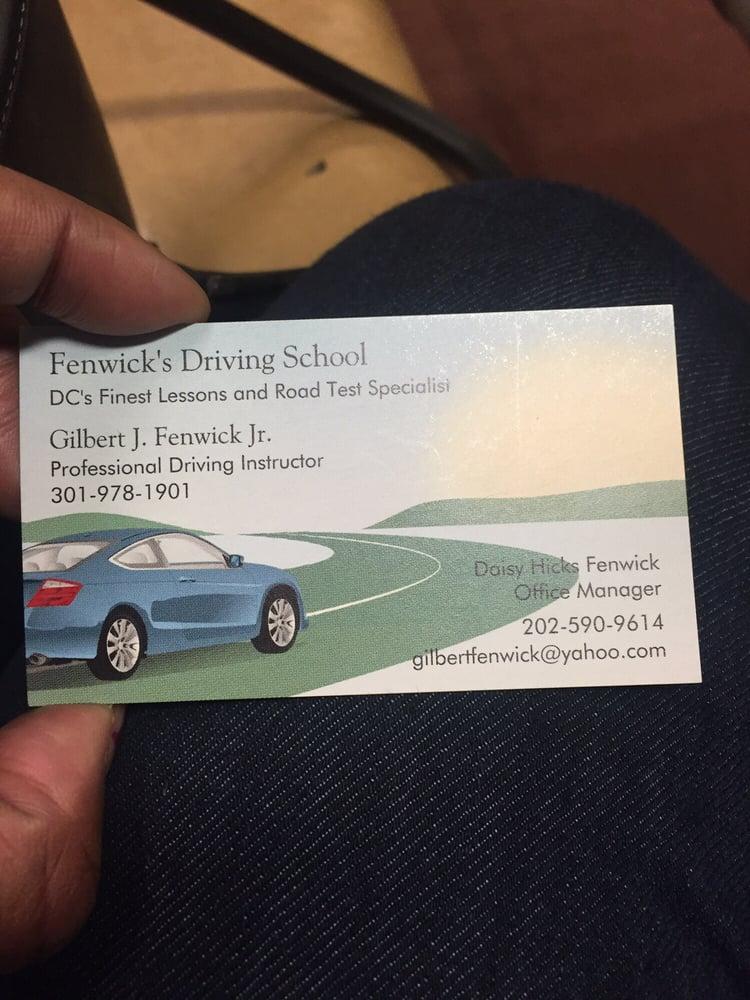 Fenwick's Driving School: 20 T St NW, Washington, DC, DC