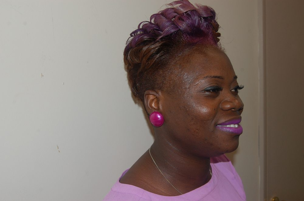 Purple Passion Custom Color On Relaxed Hair Yelp