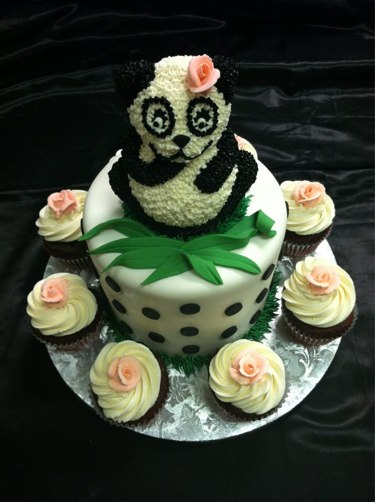 Fantastic Cute Panda Birthday Cake Funny Birthday Cards Online Alyptdamsfinfo