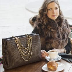 Photo Of Misuri Florence Firenze Italy Hand Woven Bags And Fur Jackets
