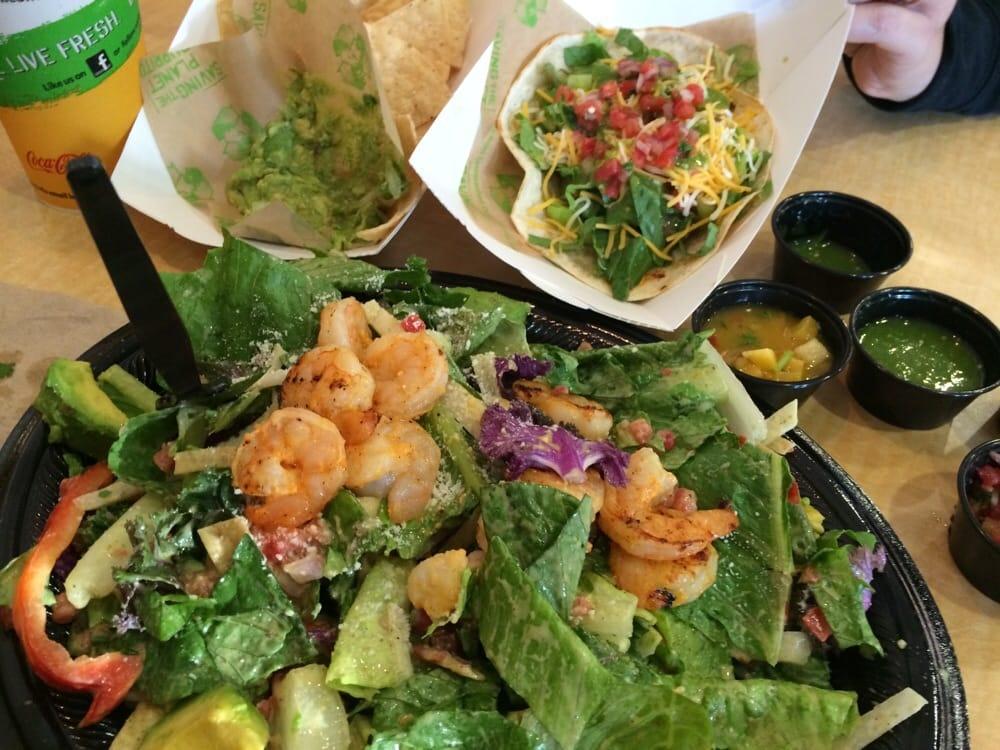 Lime shrimp salad and steak taco - Yelp