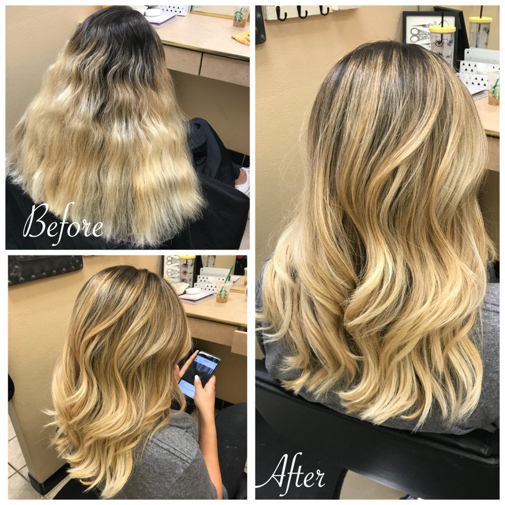 Give yourself the gift of balayage and highlights to create this 19 photos for canyon falls spa salon solutioingenieria Choice Image