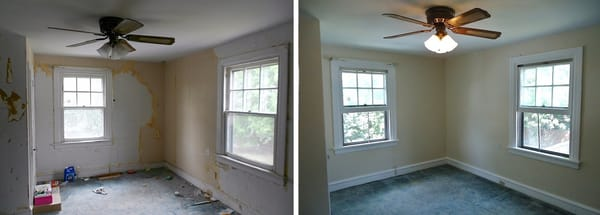 Before And After Wallpaper Removal, Window Trim, Wall And