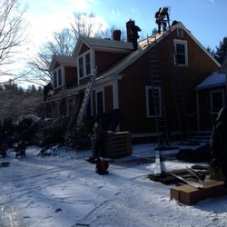 Photo Of Power Construction   Natick, MA, United States. Roof Snow Removal  ...