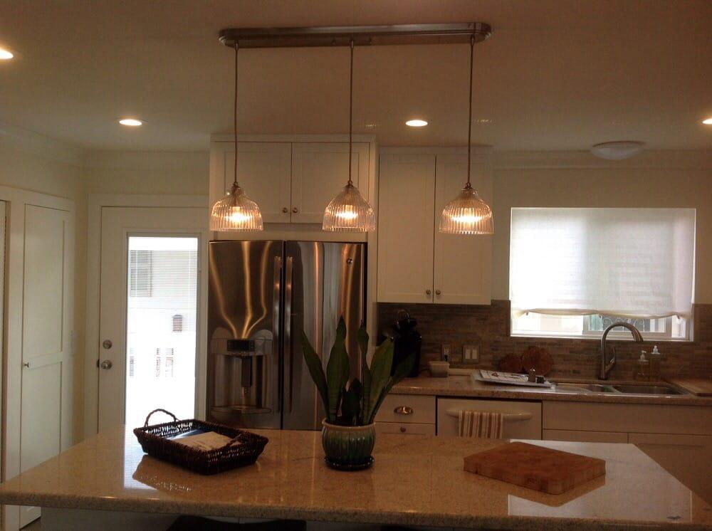 Installation Of Island Counter Lights Yelp - Island counter lighting