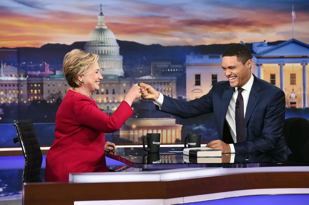 Image result for hillary clinton trevor noah