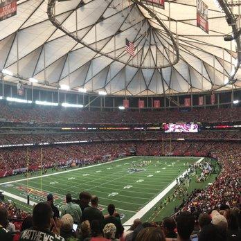 Georgia Dome De Atlanta >> Georgia Dome Ferme 390 Photos 142 Avis Stade Terrain De