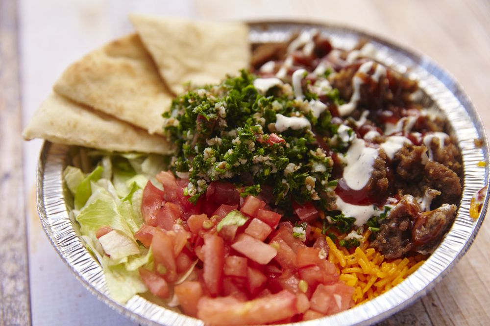 Food from The Halal Guys