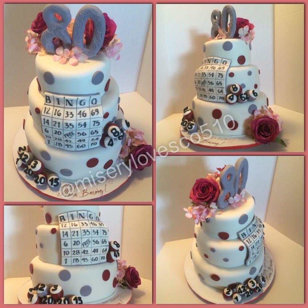 80th bday bingo cake all edible yelp