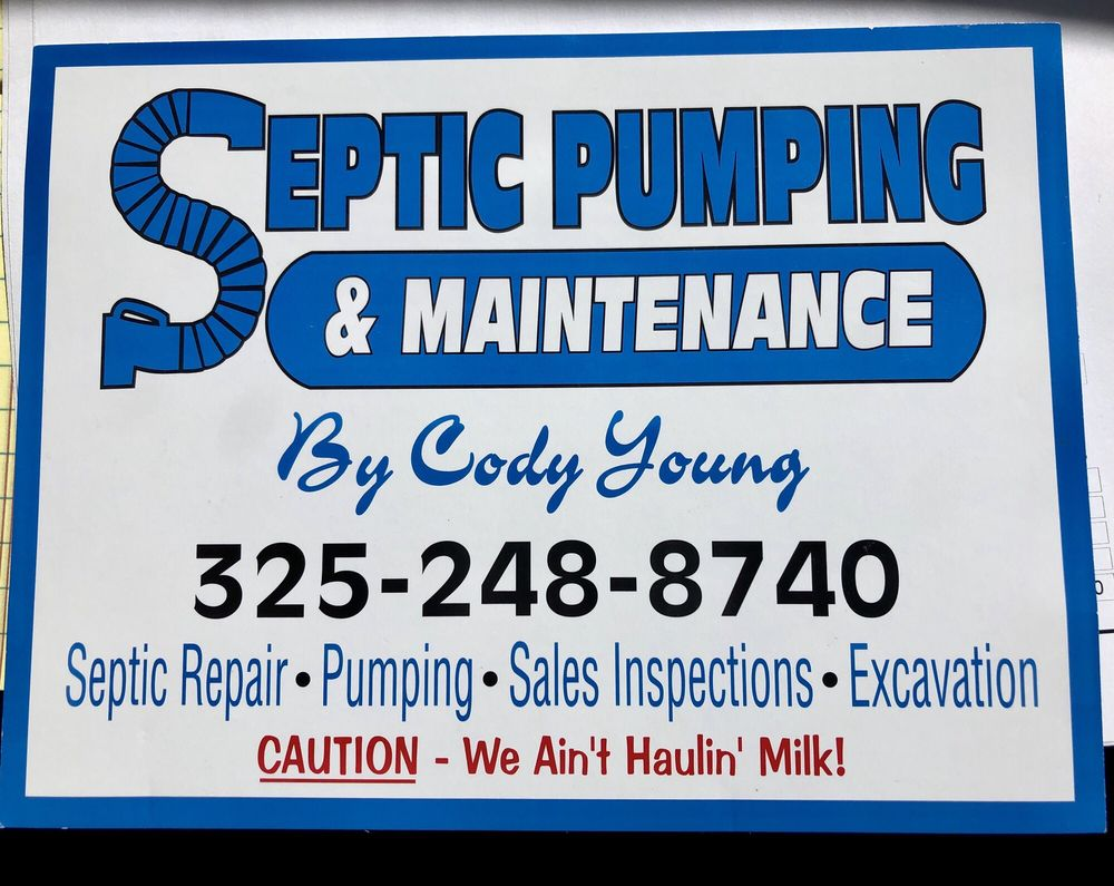 Septic Pumping And Maintenance By Cody Young: 3401 W RR 1431, Kingsland, TX