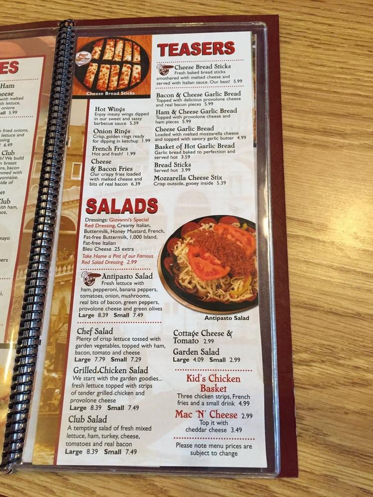 Giovanni's Pizza: 1703 Argillite Rd, Flatwoods, KY