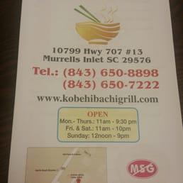 Kobe Hibachi Grill Japanese Restaurant Murrells Inlet Sc