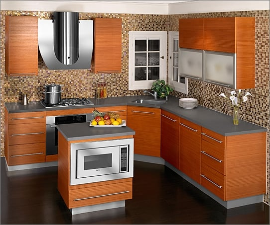 KitchenCraft   Wall Cabinets   Summit Acrylic With Glacial Finish, Lower  Cabinets   Aurora Contempra With Horizontal Grain Driftwood Finish.   Yelp